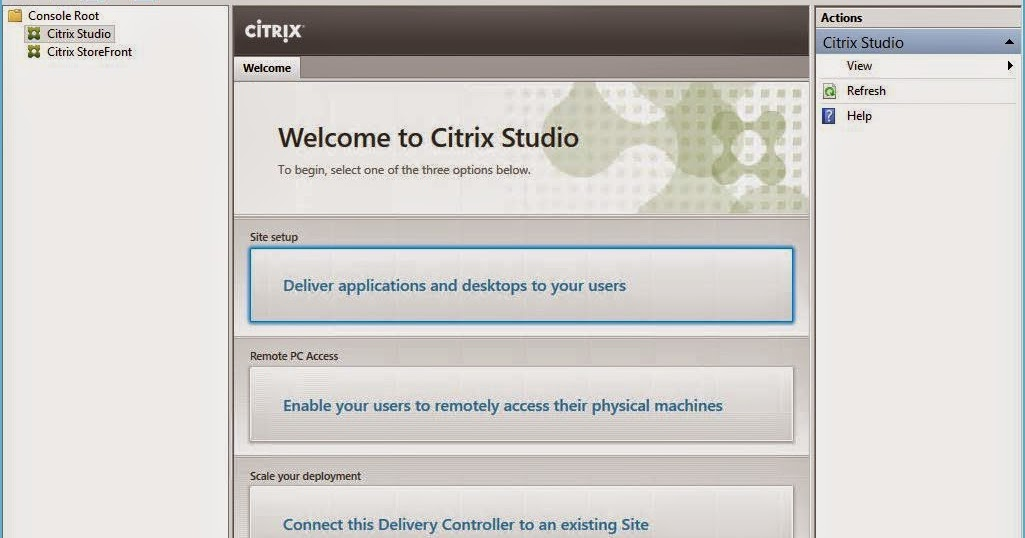 Citrix XenApp 7 6 : Part 3 Create and Setup a new Site | IT