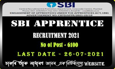 SBI Apprentice Recruitment 2021 - 6100 Vacancy