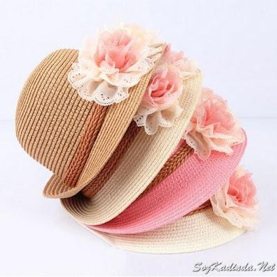 yazlık bebek şapkaları örgü
