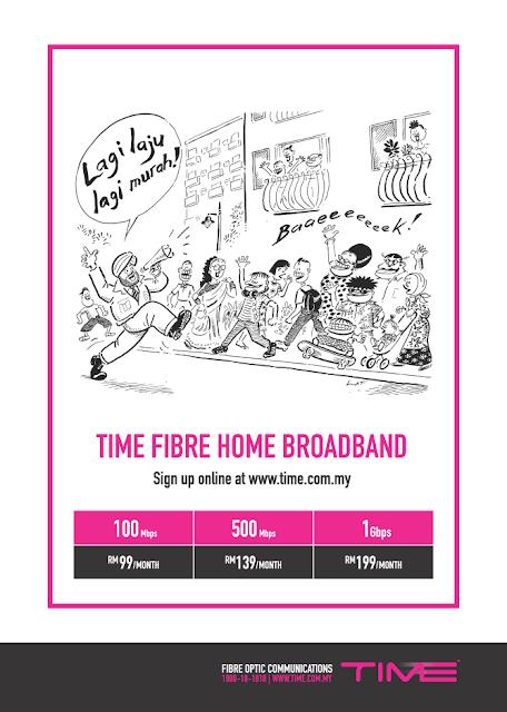 TIME FIBRE HOME BROADBAND HARGA RM 99