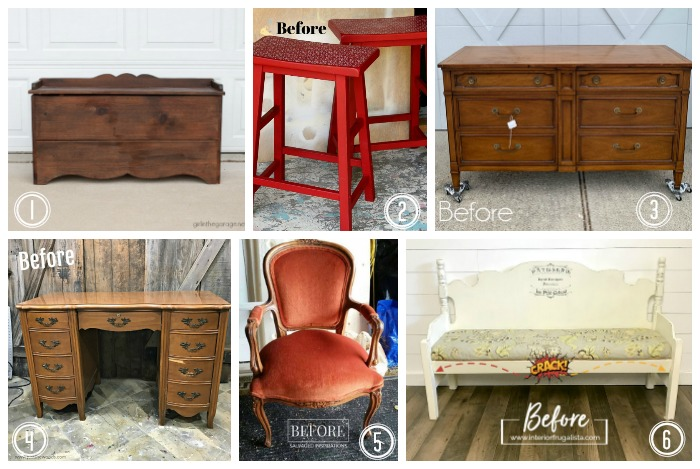 Furniture Fixer Upper Group Makeovers Before