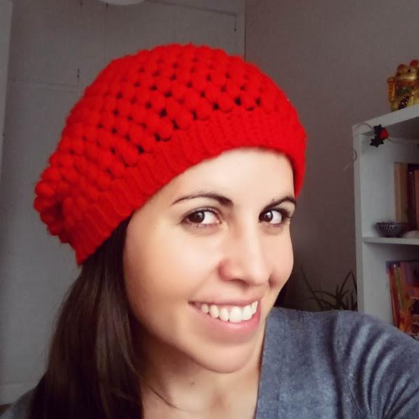 Boina Caida (Slouchy Beanie) a Crochet