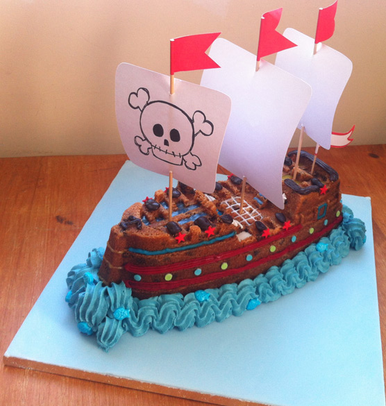 Toffee & Choc Chip Pirate Ship Bundt