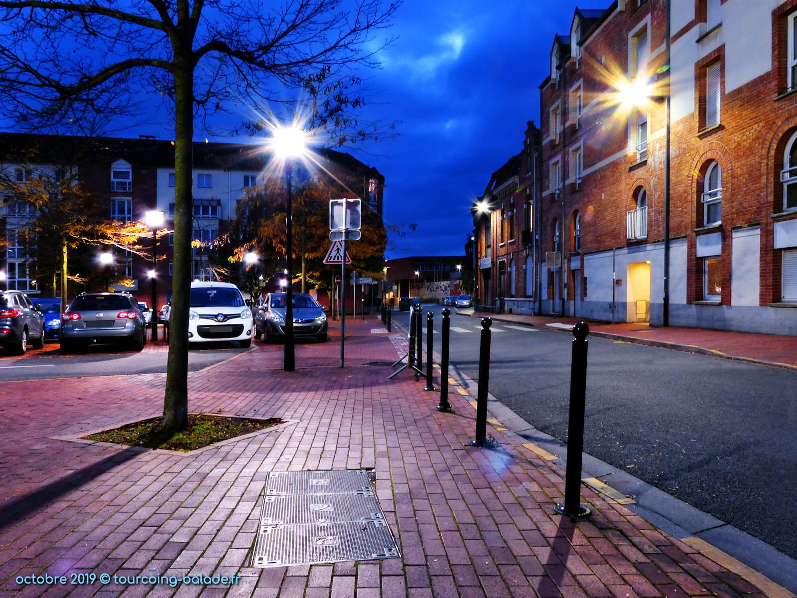 Parking Lagrange, Tourcoing centre - la nuit.