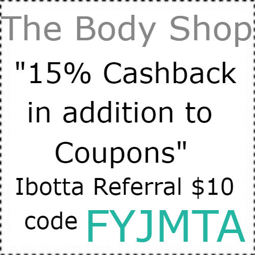 The Body Shop cashback Ibotta app, $10 Ibotta Code