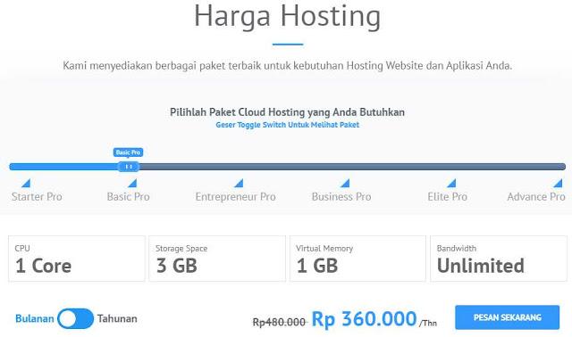 Spesifikasi Cloud Hosting IDCloudHost