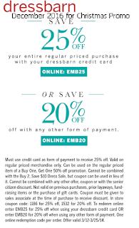 free Dress Barn coupons december 2016