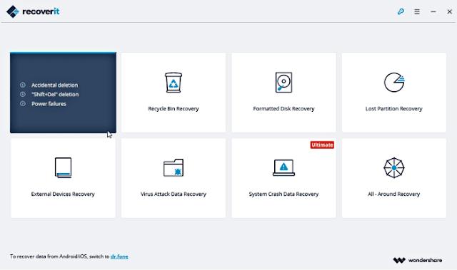 تحميل برنامج Wondershare Recoverit الافضل لاسترجاع الملفات