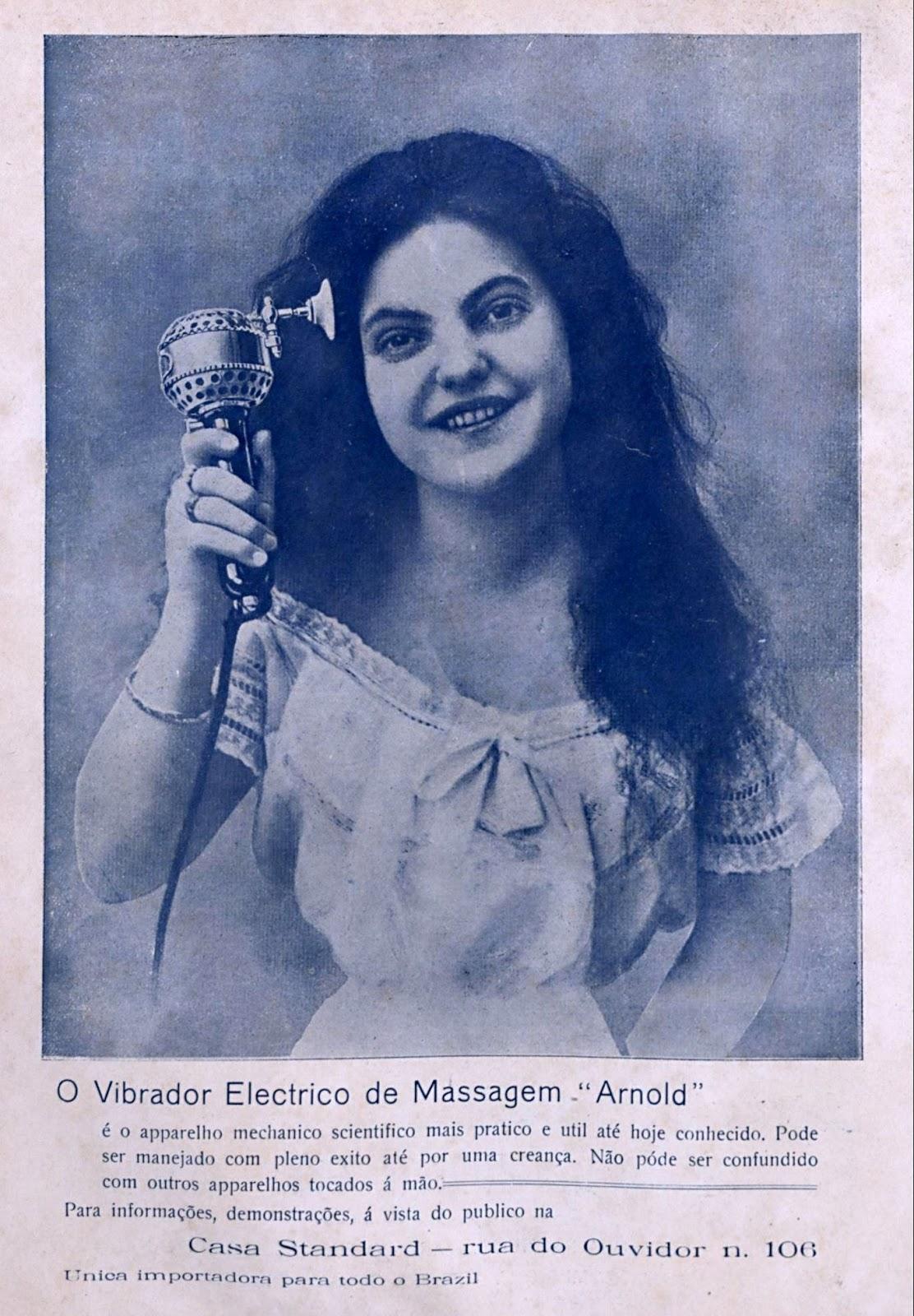 Propaganda antiga de vibrador elétrico apresentado em 1909