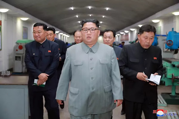 Kim Jong Un visits February 8 General Machine Factory, KCNA June 1, 2019