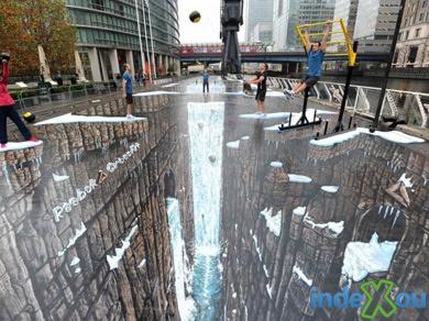 reeebok Reebok entra para o Guinness com a maior pintura 3D do mundo