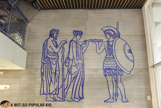 Cyma Greek Restaurant Interior Walls