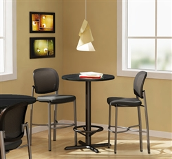 Mayline Round Bar Height Bistro Table