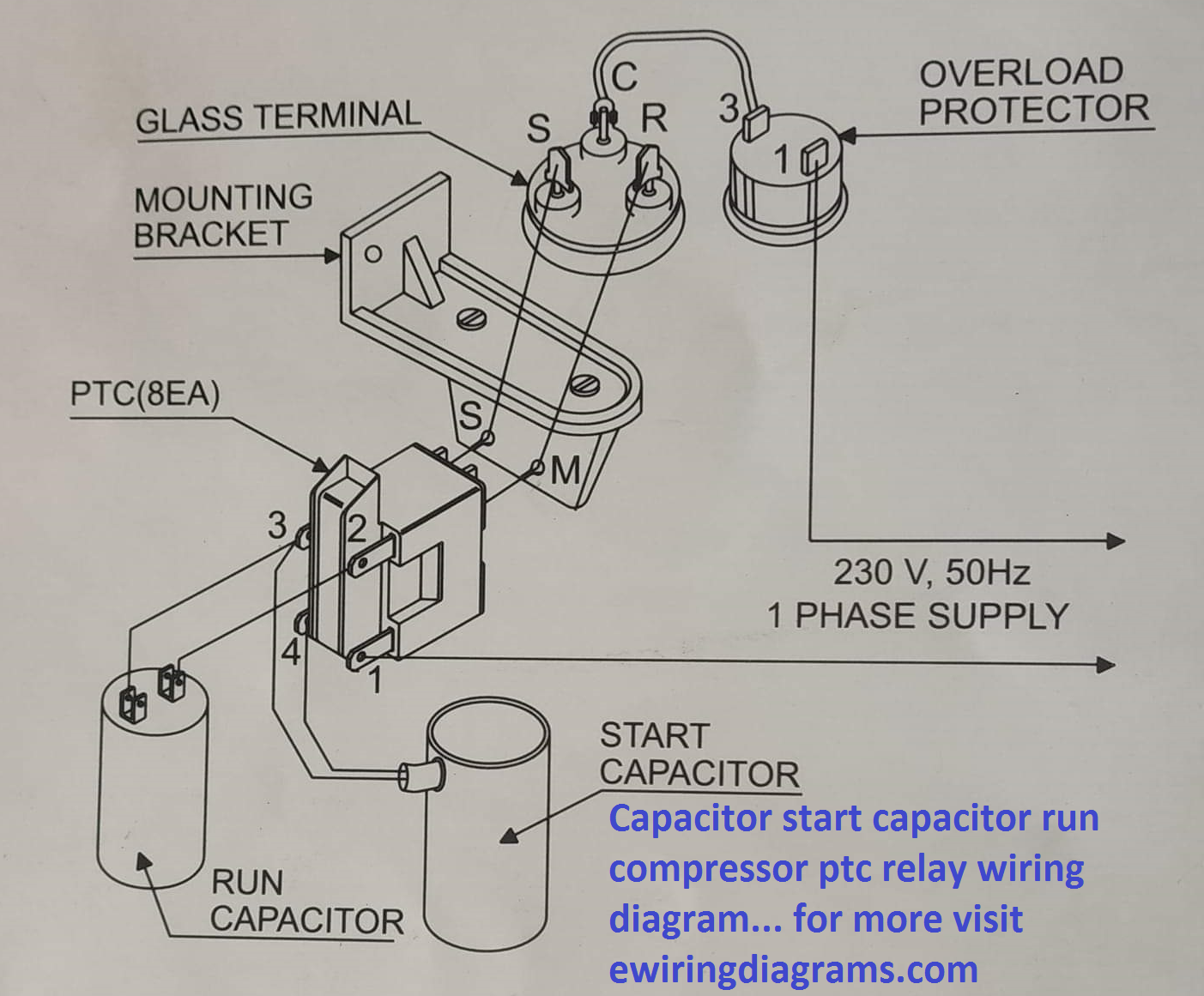 Capacitor Start Capacitor Run Compressor PTC Relay Wiring Diagram |  Electrical Wiring Diagrams Platform | Refrigerator Relay Wiring Diagram |  | Electrical Wiring Diagrams Platform