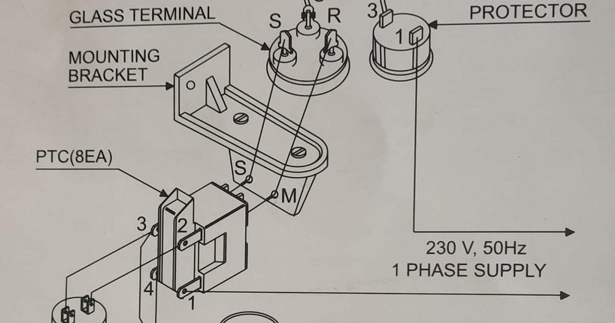 ptc relay wiring diagram  schematic wiring diagram power