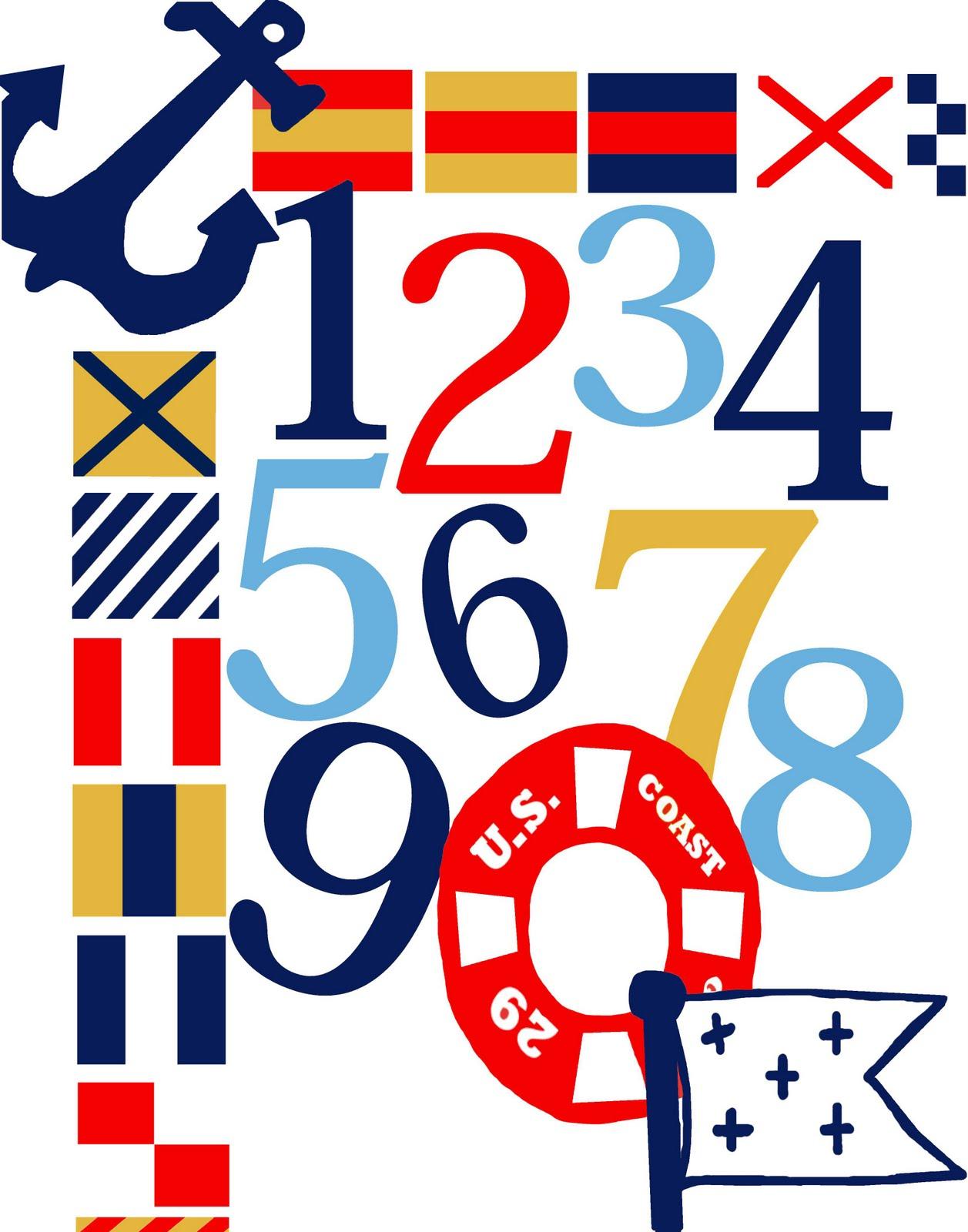 Nautical Flags Numbers