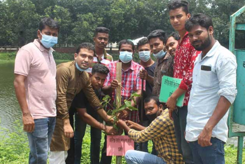 Chhatra League tree planting
