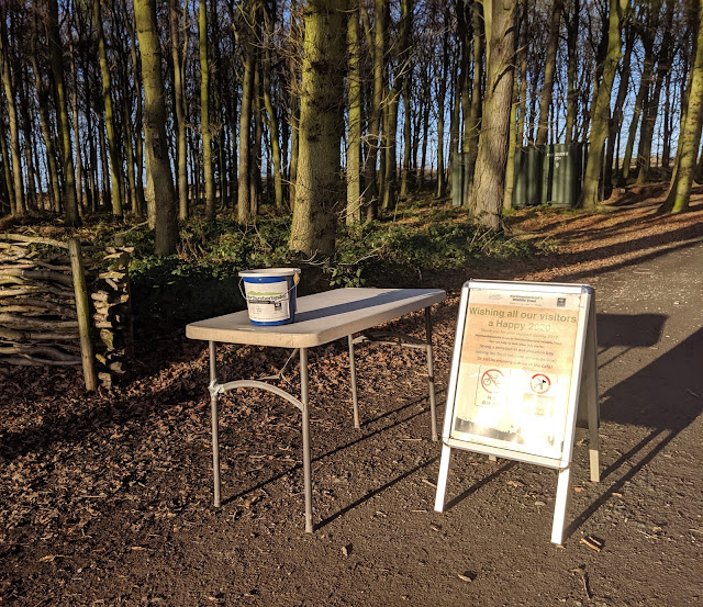 A Guide to Visiting Northumberlandia - donation buckets