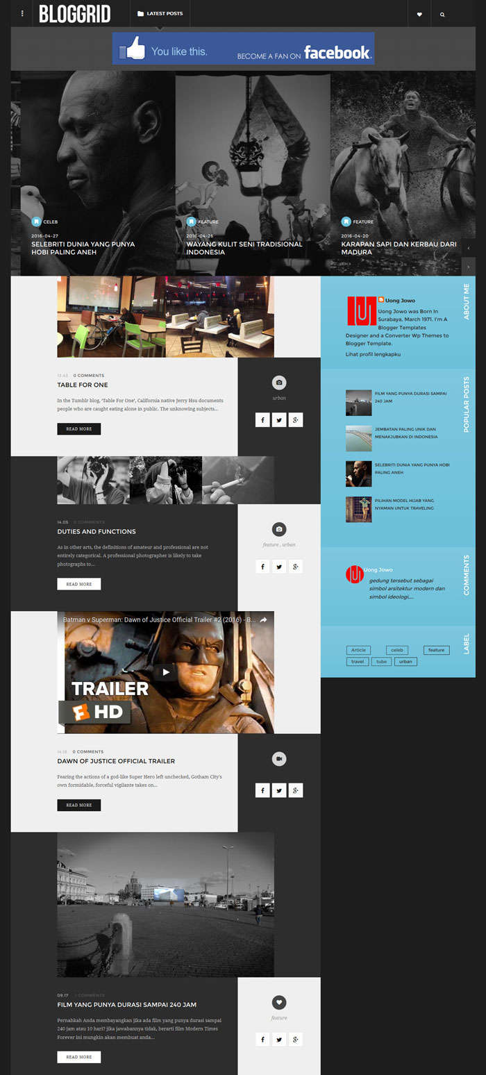 Bloggrid blogger template new