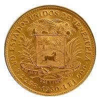 Reverso Moneda Conmemorativa Venezuela
