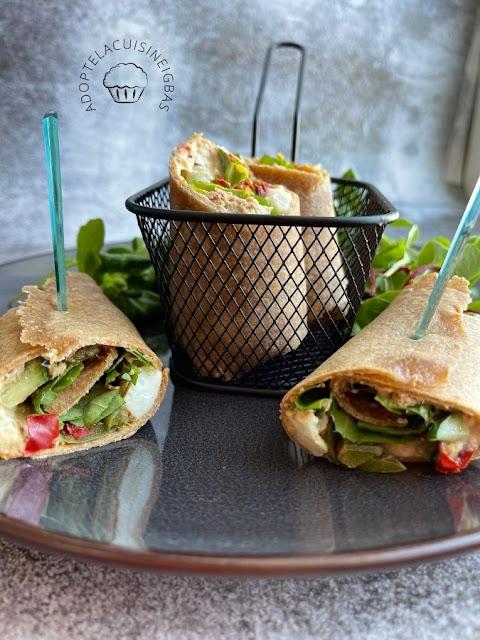 Wrap IG bas  - Tortilla - Recette facile - IG bas