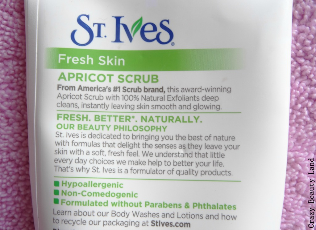 St. Ives Fresh Skin Apricot Scrub Review Where to buy Price in India