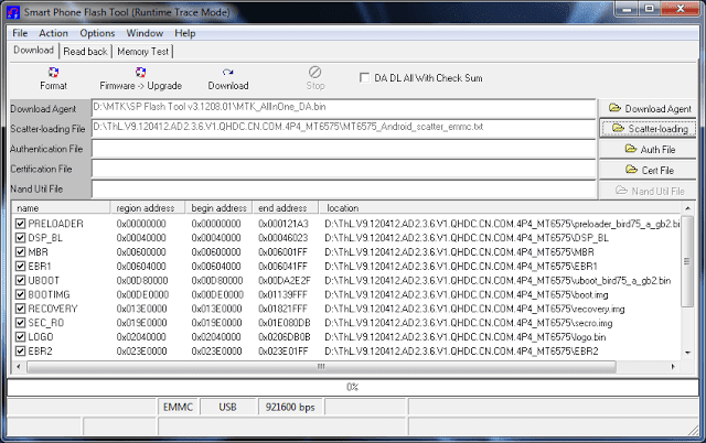 click Scatter-loading button and select BSNL PS501 Scatter file