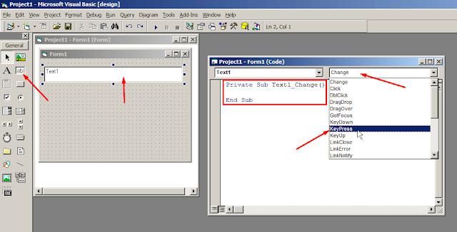 Mengatur Textbox Hanya Input Huruf Kapital di Visual Basic 6.0