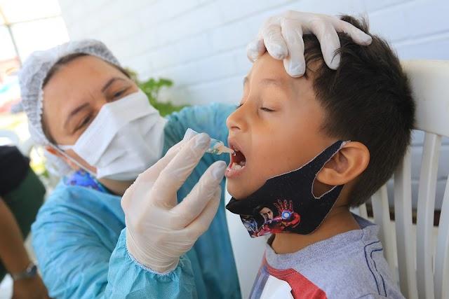 Foram Quase 15 mil crianças vacinadas no Dia D, neste ultimo sábado