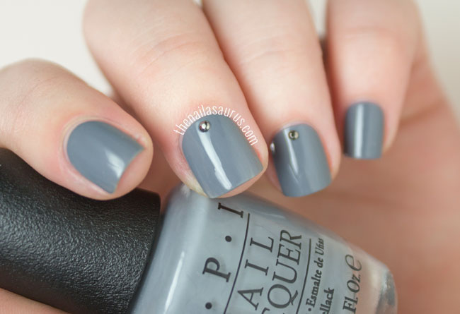 OPI 50 Shades of Grey Collection Embrace the Gray Swatch