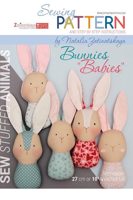 PDF bunny baby sewing pattern by ZatinatskayaToys