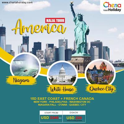 paket tour amerika halal