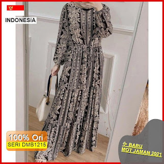 Dmb1215 Dress Wanita Mars Maxy Dress Rayon Premium Hits Ootd Wanita