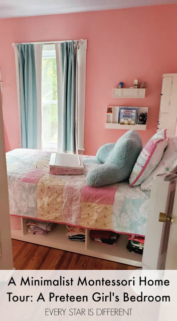 A Minimalist Montessori Home Tour: A Preteen Girl's Bedroom