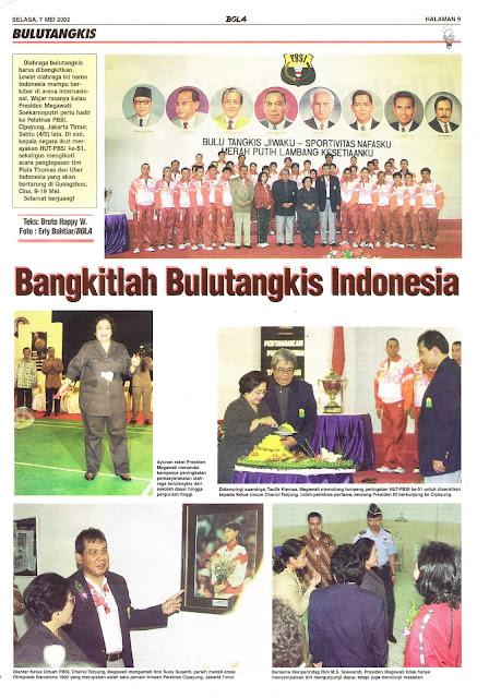 BANGKITLAH BULUTANGKIS INDONESIA