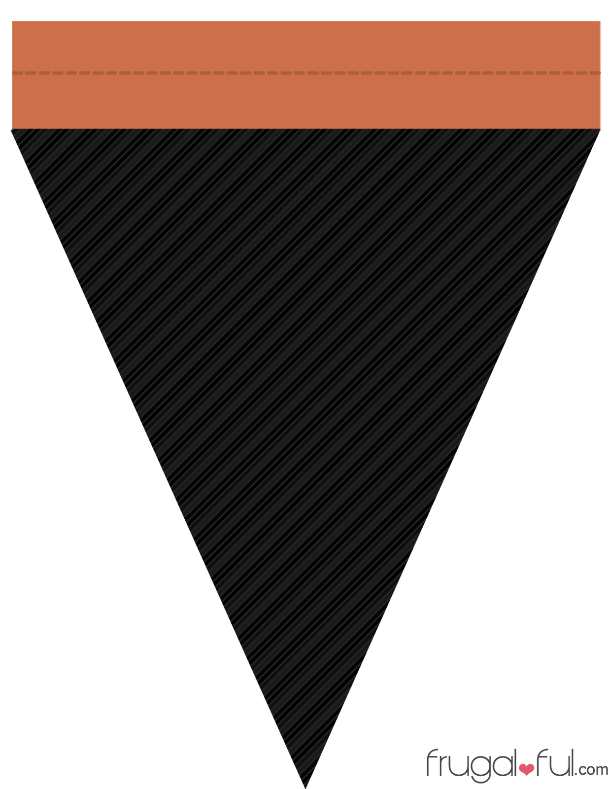 Diy Free Printable Halloween Triangle Banner Template