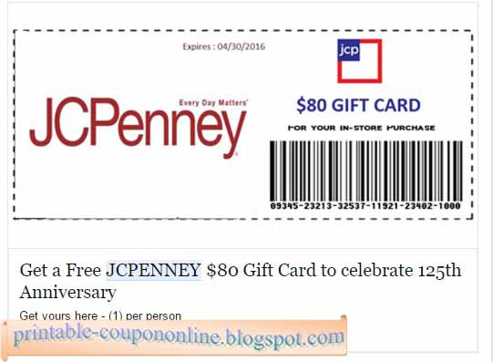Jcpenney department store coupons