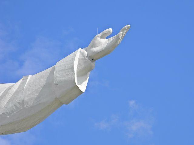 odgromnik, ręka, Chrystus, w Świebodzinie