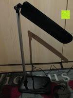 schräg: CRECO 7W LED Tischlampe 5 Helligkeitsstufen 3 Modi dimmbar 270° drehbar Schreibtischlampe Schwarz [Energieklasse A+]