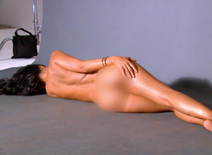 Kim, khloe and kourtney kardashian reveal first bikini shoot in cringey half naked photo