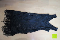hinten: PrettyGuide Damen 1920er Gatsby Art Deco Perlen Franse Flapper Charleston Kleid