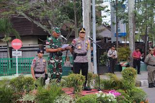 Pangdam XII/Tpr dan Kapolda Kalbar Pimpin Apel Kesiapan Pengamanan Pemilu 2019