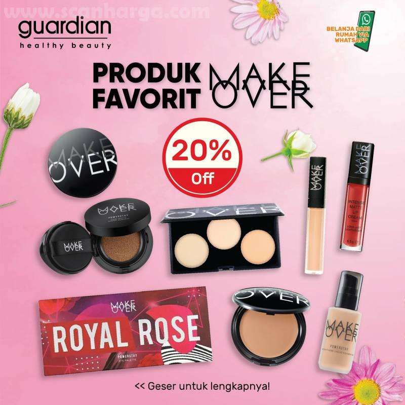 Guardian Promo Diskon 20% untuk Produk Pavorit Make Over