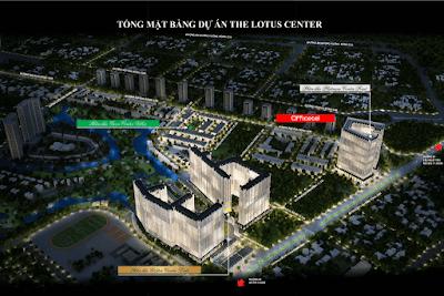 Vị trí tổng thể dự án The Lotus Center Ciputra