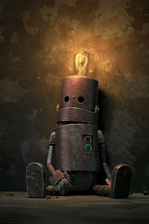 Lonely Robot Mobile HD Wallpaper
