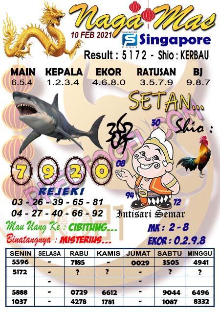 Syair Sgp Nagamas Rabu 10 Februari 2021