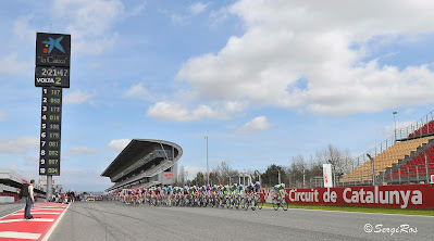 cycling F1 circuit of Catalonia Spain