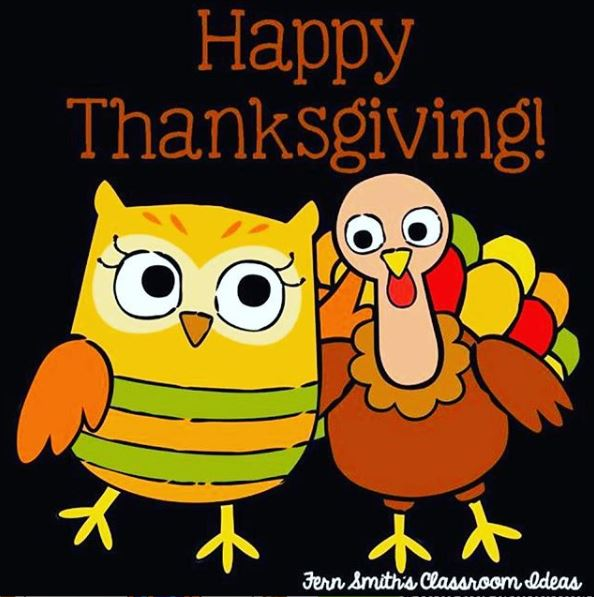 Happy Thanksgiving to You and Your Family!  #FernSmithsClassroomIdea