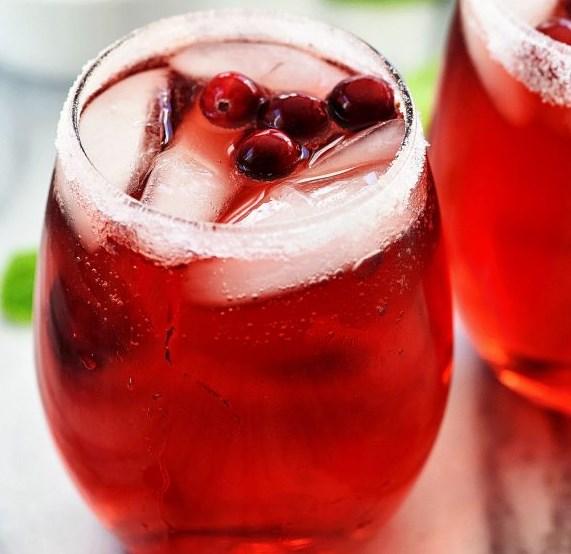 Sparkling Cranberry Cider #partydrink #apple