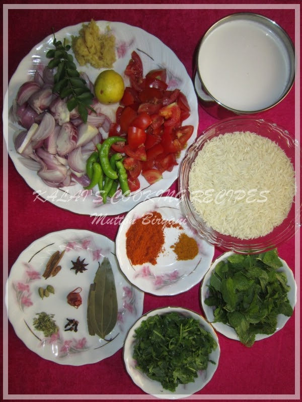 Mutton Biryani Ingredients